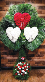 TRIPLE HEART WITH PALM LEAF