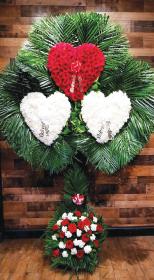 TRIPLE HEART WITH PALM LEAF