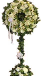 WHITE AND GREEN ASSORTED WREATH