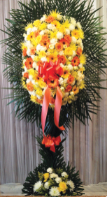 YELLOW, ORANGE AND WHITE ASSORTED SPRAY