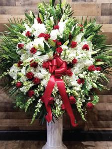 RED AND WHITE ASSORTED ELEGANT BASKET