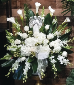 ALL WHITE ANGEL BASKET