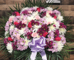 PURPLE, PINK AND WHITE STANDARD BASKET